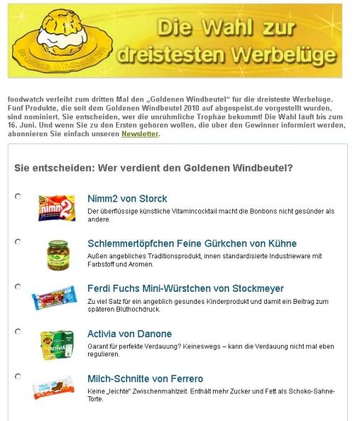 Dreisteste_werbeluege_2011